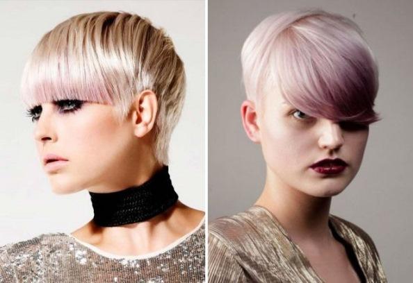 lila blond frisuren kurz 2018