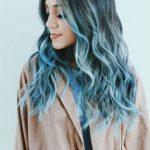 blau ombre langhaarfrisuren