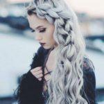 grau langes haar stylen